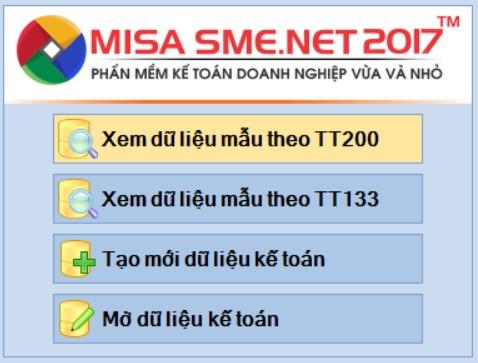 phần mềm kế toán misa sme.net