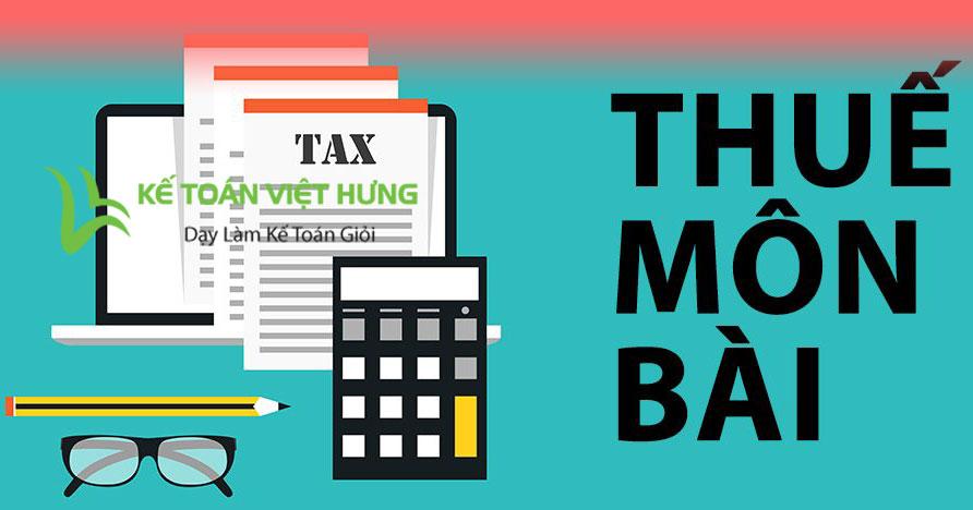 Mức nộp thuế môn bài năm 2019