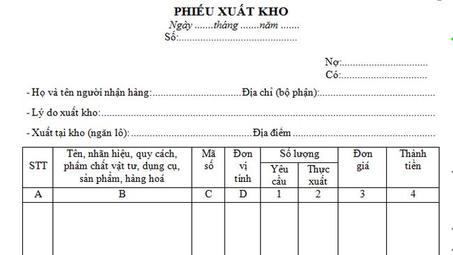 Phương pháp lập phiếu xuất kho chi tiết theo quy định mới nhất