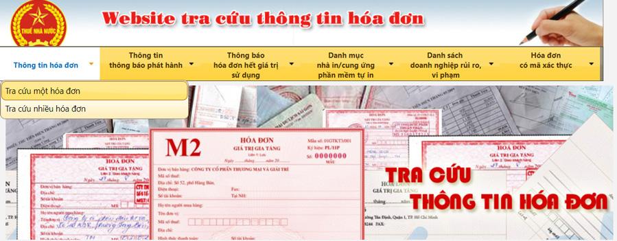 tra cứu thông tin hóa đơn