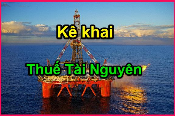 kê khai thuế tài nguyên