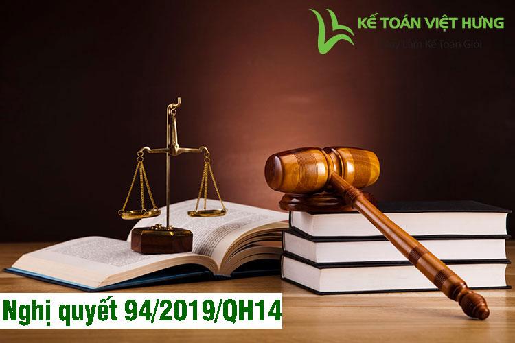 nghị quyết 94/2019/qh14