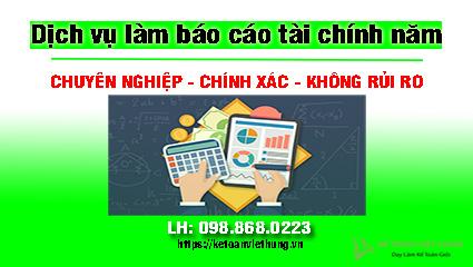 dịch vụ báo cáo tài chính chuyên nghiệp