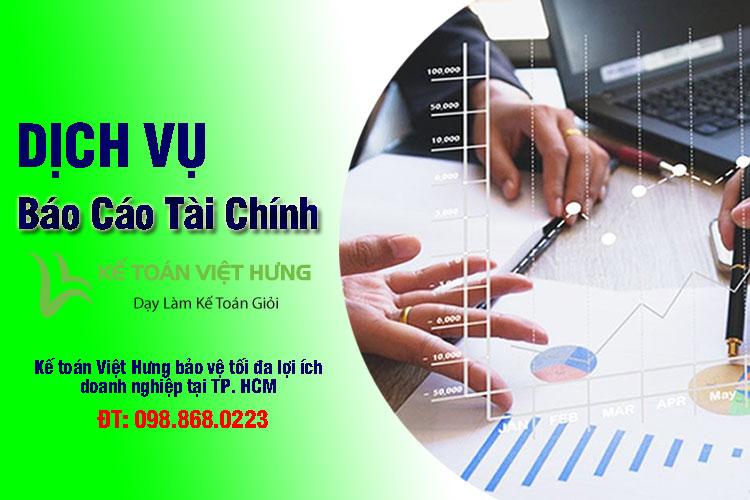 dịch vụ lập lại báo cáo tài chính tại tp hcm
