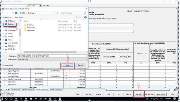 cách nhập dữ liệu quyết toán thuế tncn