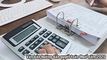 văn bản hướng dẫn quyết toán thuế
