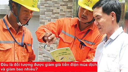 giảm giá tiền điện mùa dịch