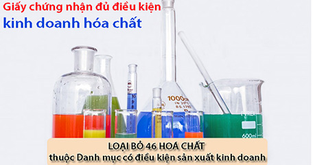 giấy chứng nhận đủ điều kiện kinh doanh hóa chất