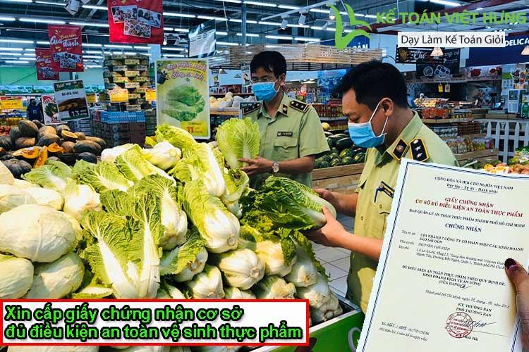 giấy chứng nhận cơ sở đủ điều kiện an toàn vệ sinh thực phẩm