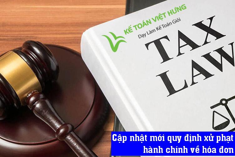 quy định xử phạt hành chính về hóa đơn