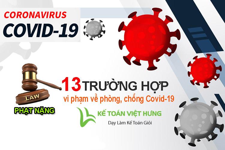 vi phạm về phòng chống covid-19