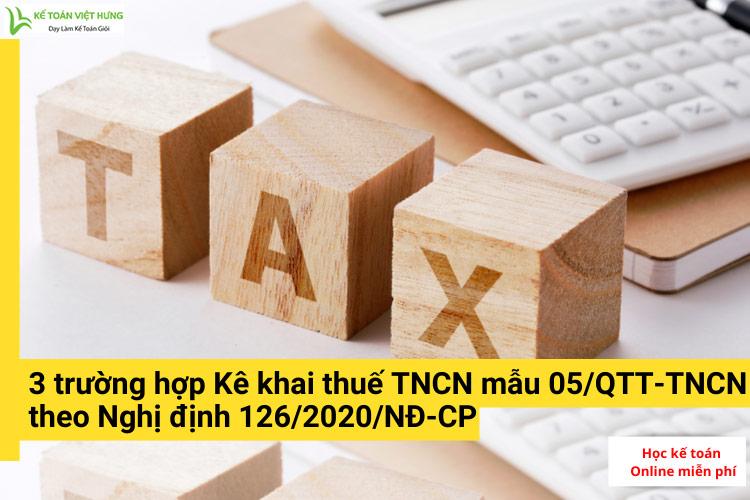 kê khai thuế tncn