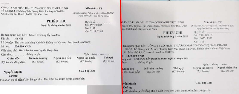 in sổ sách kế toán