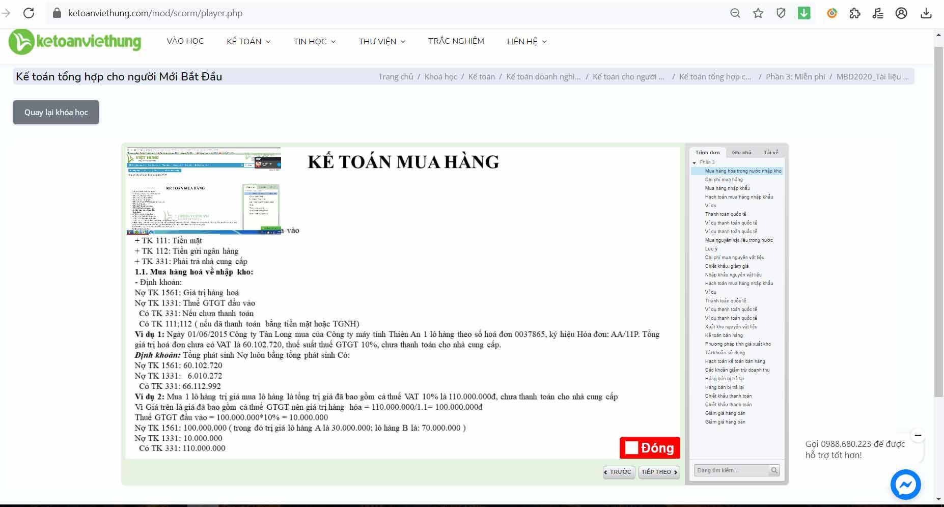 giáo trình kế toán online người mới