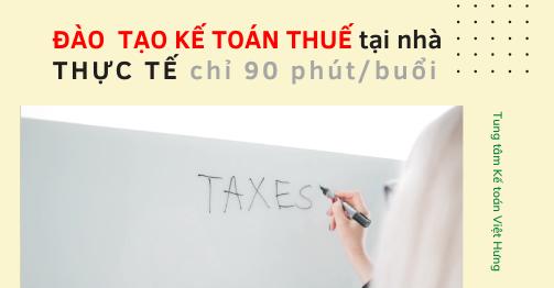 đào tạo kế toán thuế tại nhà online