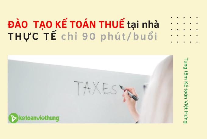 đào tạo kế toán thuế tại nhà
