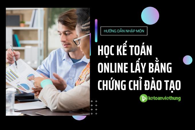 học kế toán online lấy bằng