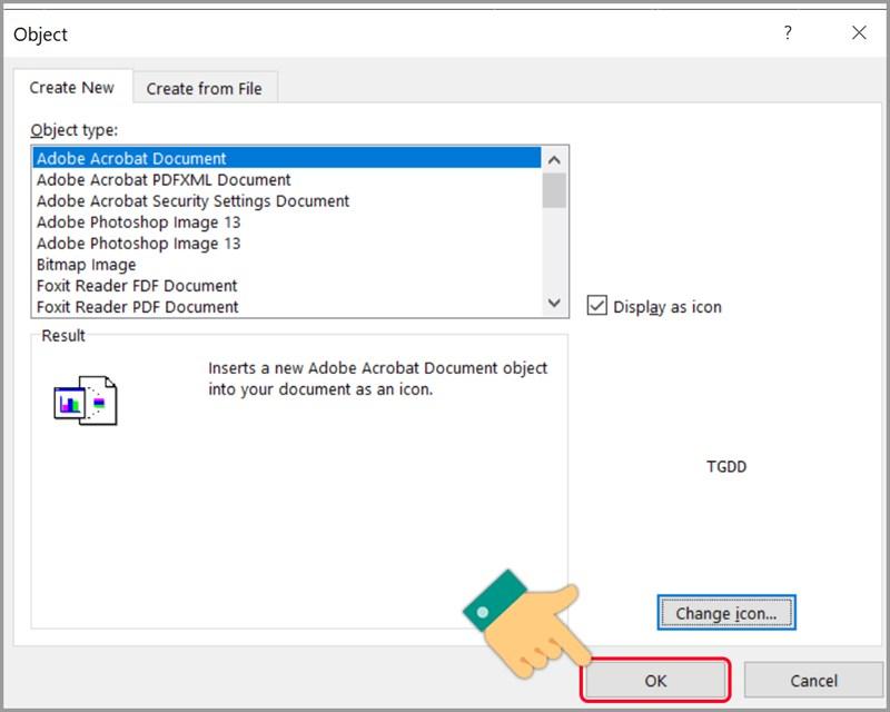Cách chèn file PDF vào Excel - ảnh 4